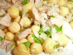Receita Entrada : Grão com atum, salsa e cebola de Kristininha