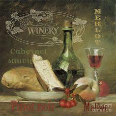Original Painting - Vintage Wine-jp3188 by Jean Plout
