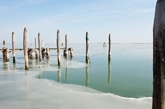 Credit: Marco Secchi/Getty Images The north side of the frozen Venice lagoon