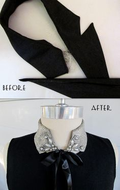 #51  Re-Style that old collar with a little glue and glitter