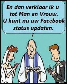 I.P.V. ;Elkaar kussen. Just Married, Funny Pictures, Funny Quotes, Family Guy, Lol, Jokes, Social Media, Comics, Fictional Characters