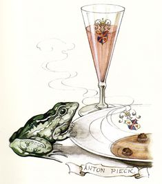 The Frog King - Tales of the Efteling by Martine Bijl and Anton Pieck East Of The Sun, Anton Pieck, Frog Art, Dutch Painters, Dutch Artists, Fantasy Illustration, Conte, Vincent Van Gogh, Wizard Of Oz