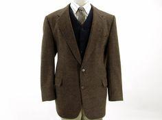 Vintage Brown Tweed Sport Coat by Christian by IvyLeagueVintage, $65.00