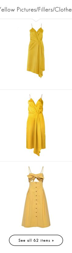 """Yellow Pictures/Fillers/Clothes"" by madslolo ❤ liked on Polyvore featuring dresses, white colour dress, victoria beckham, victoria beckham dresses, white dresses, white day dress, wrap dress, drape wrap dress, drapey dress and yellow wrap dress"