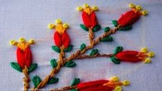 Hand Embroidery Flower | fly stitch| lazy daisy stitch hand embroidery