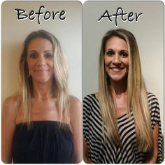 Before And After Di Biase Hair Extension Usa Fusion Keratin Bonded 100 Remy