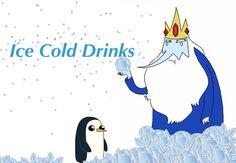 Ice Kingdom 'ice cold drinks' sign I made
