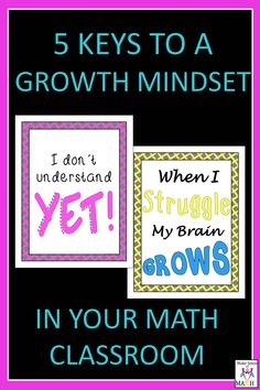 A growth mindset is very important in your math classroom.  Learn how to cultivate a growth mindset and set your students up for success throughout the year. #growthmindset #mathblog #mathsuccess #math #makesenseofmath #teacherspayteachers
