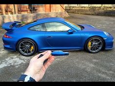 Wrapping My Porsche 991 GT3 Blue by Signature Group - YouTube