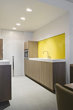 cocina madera con frente amarillo - iXtra   Cooking