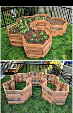 Need DIY garden projects and ideas to decorate your home outdoor? Find 101 DIY garden projects made with recycled materiel to upgrade your garden at no cost. Garden Boxes, Garden Planters, Pallet Planters, Rocks Garden, Vegetable Planters, Diy Gardening, Container Gardening, Pallet Gardening, Gardening Quotes