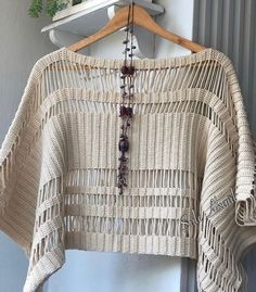 Crochet Poncho, Ideias Fashion, Eminem, Pullover, Knitting, Sweaters, Cardigans, Dresses, Instagram