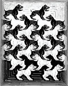 Escher art | ... Division of the Plane IV by M. C. Escher from Skot Foreman Fine Art