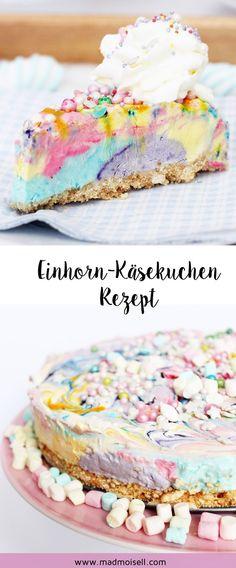 Einhorn Käsekuchen backen: Einfaches Rezept für deine nächste Einhorn-Party! Das Tolle an meinem Einhorn-Kuchen: Ihr müsst ihn nicht backen und dadurch ist er wirklich super schnell selbst gemacht. Da die Käsekuchen-Masse (ähnlich wie bei einer Eis-Torte) schön kalt wird, ist der Einhorn Kuchen perfekt für den Sommer geeignet. Stichwort: Einhorn-Party! Wer von euch ist dabei?