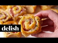 We& take a buttery, flaky crescent roll over sandwich bread any day. DIRECTIONS Preheat oven to Grease an baking pan with cooking spray. Ham Cheese Rolls, Ham And Cheese Roll Ups, Ham And Cheese Pinwheels, Delish Videos, Appetizer Recipes, Appetizers, Crescent Roll Recipes, Crescent Rolls, Sandwiches