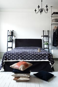 From stars to polka dots, a simple pattern & texture can stich a room together nicely. When choosing all your bedding parts, try opposing graphics in the black & white or the same pattern in different colors.    1 / 2 / 3 / 4 / 5 / 6 / 7 / 8 / 9 / 10