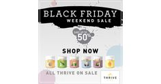 4 days only for the Biggest sale of the year from Thrive Life - while supplies last! ALL Thrive Foods on sale (freeze dried and dehydrated) Cansolidators, select shelving on sale Select Emergency supplies  http://ltl.is/g9rPi