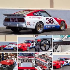 Check out our latest blog about this #datsun #280zx #racecar. Owned by Jim Fitzgerald and @adamcarolla. Info in bio. Tag a friend. What's in your garage?  #bringatrailer #adamcarolla #s130 #nissan #vintage #livery #panasport