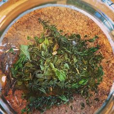 Create your own blends with our range of herbal and floral infusions. This is some peppermint and nettle with thyme from my garden. #tea #edinburgh