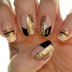 Black and gold nails....a combo that is always classic and gorgeous!!!