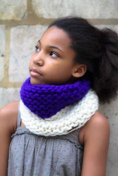 Big snood  Handmade knitwear, wool, knitting, tricot, men, women, kids