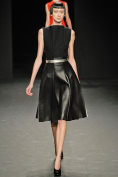 Black beauty. Calvin Klein, Fall 2012.