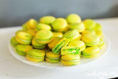 Macarons с белым шоколадом, лаймом и базиликом | Самый вкусный портал Рунета
