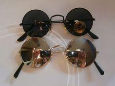 Set of 2 sunglasses with round lenses style hippie goa 70s retro new mirror lot