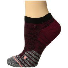 Stance Circuit Low (Wine) Women's Low Cut Socks ($12) ❤ liked on Polyvore featuring intimates, hosiery, socks, no seam socks, low cut socks, reinforced toe socks, seamless socks and wicking socks
