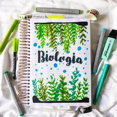 """Catarine Godoy. en Instagram: """"- Minha capa personalizada do caderno de Biologia. 🦠🔬🧠 . . . #capasdacaca #portadas #biology #biologia #portadasbonitas #capasdecaderno."""""""