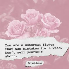 Flower Quotes Inspirational, Affirmations Positives, Be Yourself Quotes, Quote Of The Day, Believe, Life Quotes, Collage, Positivity, Invitations