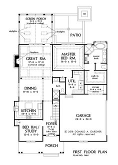 Floor plans for ranch homes for 130000 hubbell homes building first sf 1679 malvernweather Gallery