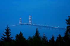 Mackinac Bridge linking the Upper and Lower Peninsulas of Michigan