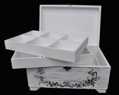 Drewniana szkatułka na biżuterię w stylu Shabby (5205229006) - Allegro.pl - Więcej niż aukcje.