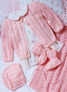 Perfectly Pink Layette - Free Pattern
