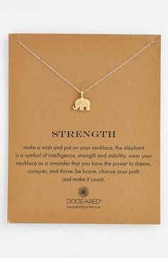 Strength-Elephant Necklace