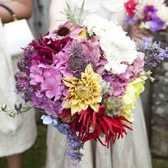 Bright August bouquet of seasonal flowers from The Real Cut Flower Garden