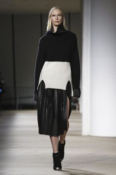 Inventive layers at Prabal Gurung.  Love to try this!
