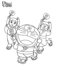 Doraemon And Friends In Summer Coloring Pages Printable Book To Print For Free Find More Online Kids Adults Of