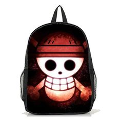 Dreamcosplay ONE PIECE Luffy logo Backpack Student Bag Cosplay >>> Click image for more details.