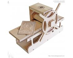 Imprenta miniatura hecha de madera