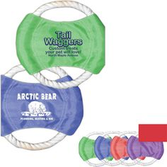 Rope Tug Toy - Rope disk tug toy is constructed of tough rope and nylon for durability.