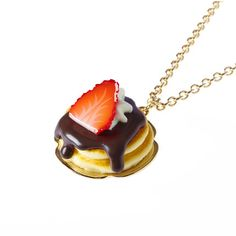Q-pot.ONLINE SHOP |オンラインショップ限定Chocolate Strawberry Pancake Necklace