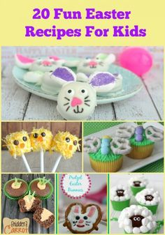 Love these, especially the marshmallow chick pops! 20 Fun Easter Recipes For Kids