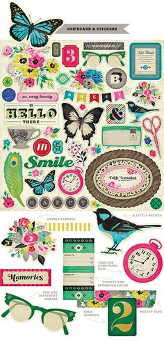 Chipboard and Stickers from Crate Paper's On Trend collection #StudioCalicoPinToWin