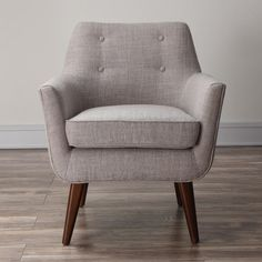From another angle - Clyde Accent Chair in Beige
