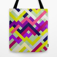 Pink & Yellow No. 1 Tote Bag by House of Jennifer - $22.00