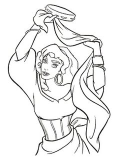 The Hunchback Of Notre Dame Color Page Disney Coloring Pages Plate Sheetprintable Picture