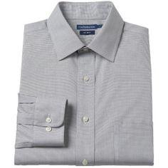 """2427503_Gray_Grid%3Fwid%3D800%26hei%3D800%26op_sharpen%3D1 Best Deal """"Men's Chaps ClassicFit NoIron Dress Shirt"""