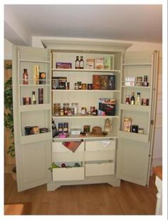 Free Standing Kitchen Larder - still want one of these.